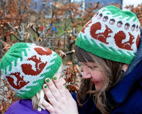 Squirrel Hat Free Knitting Pattern