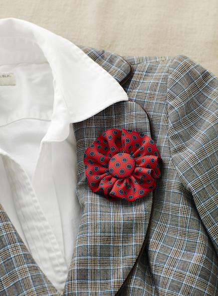 Rosette Art Necktie Brooch