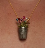 DIY Thimble Charm Necklace