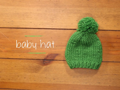 71657da7001b7 One-Hour Baby Hat (Free Knitting Pattern) - Craftfoxes