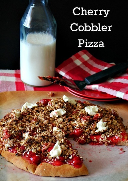 Cherry Cobbler Dessert Pizza Recipe