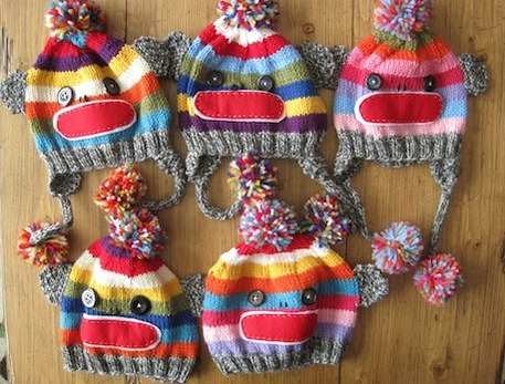 Sock Monkey Knit Hat