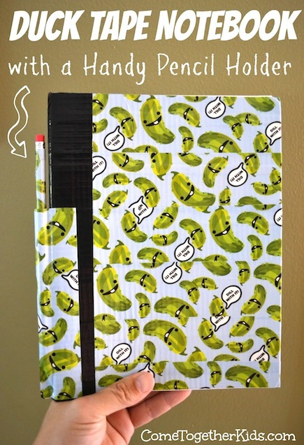 Duct Tape Crafts: Notebook with Pen Holder