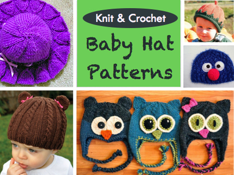 Knit and Crochet Baby Hat Patterns