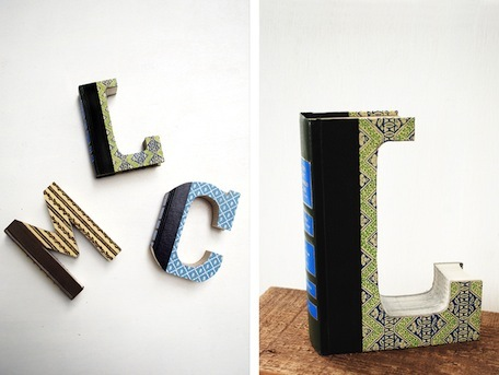 Old Book Crafts — Alphabet Wall Art