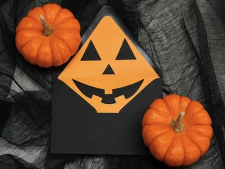 Halloween Jack-O'-Lantern Envelopes