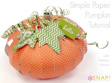 Fall Paper Pumpkin Tutorial