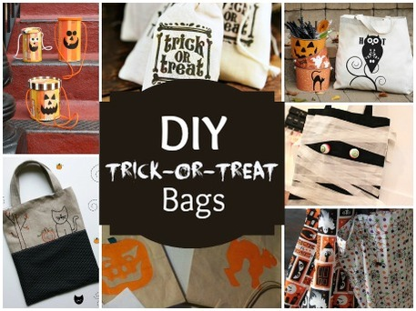 Diy Halloween Trick Or Treat Bags.Halloween Crafts Diy Trick Or Treat Bags Craftfoxes