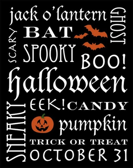 Free Halloween Printables: Subway Art and Party Bunting