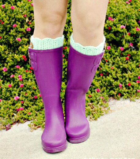 Knit and Crochet Boot Cuff Patterns