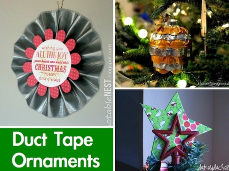Duct tape Christmas ornaments