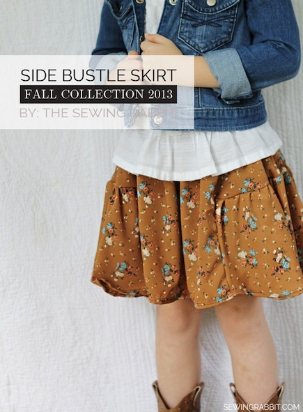 Free Side Bustle Skirt Pattern for Girls