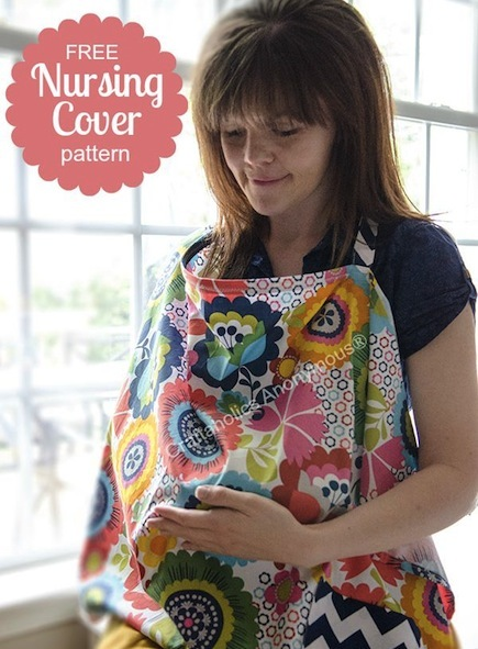 Free Nursing Cover Pattern with Pocket -- CraftFoxes