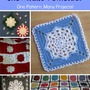 Free Pattern for Crochet Snowflake Square - One Crochet Pattern, Many Creative Projects