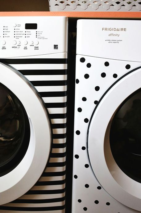 Update Your Laundry Room with Dots and Stripes