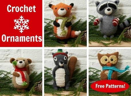 Amigurumi animals free patterns : Winter wildlife free crochet ornament patterns craftfoxes
