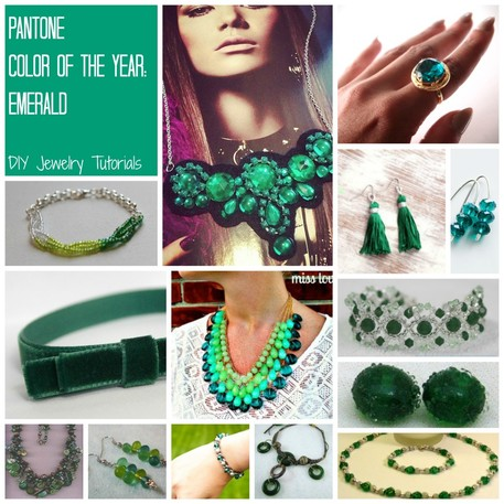 Free DIY Jewelry Projects in Emerald: Pantone Color the Year