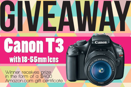 Canon Camera Giveaway: Enter 12/10 - 12/17
