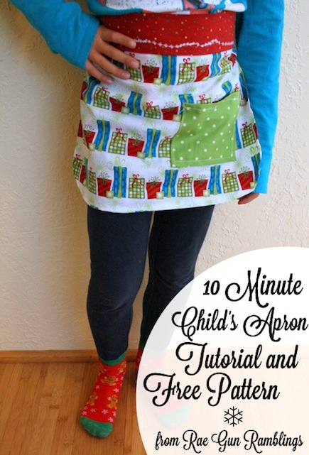 10-Minute Child's Apron (Free Sewing Pattern)