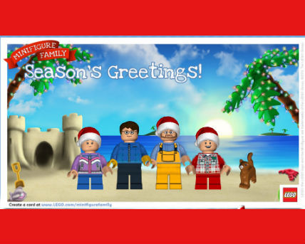 Legos Minifigure holiday card