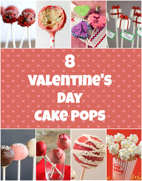 8 Valentines Day Cake Pops