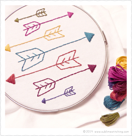 Free Arrow Embroidery Pattern from Sublime Stitching