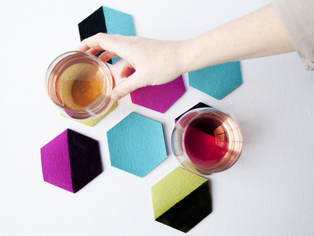 DIY Color-Blocked Coasters