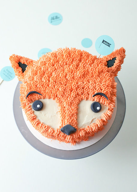 How to Make a Furry Fox Cake
