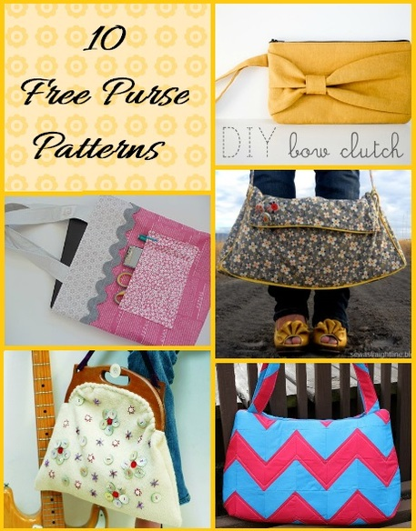It\'s in the Bag: Free Purse Sewing Patterns - Craftfoxes