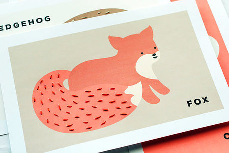 Foxy Sewing Cards for Kids