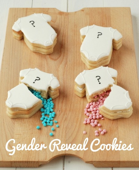 Gender Reveal Party Idea - Surprise Cookies