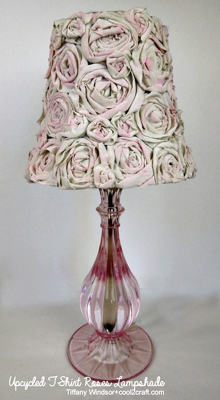 Upcycled T-Shirt Roses Lamp