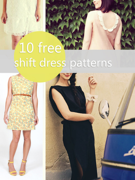 40 Free Shift Dress Patterns For Work And Play Craftfoxes Extraordinary Free Dress Patterns For Women