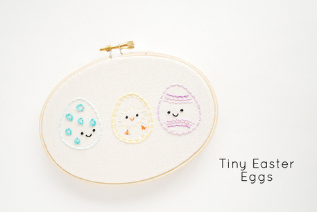 Free Easter Egg Embroidery Pattern