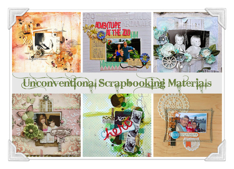 Unconventional Scrapbooking Materials