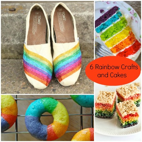 Rainbow Crafts, Food and Party Ideas