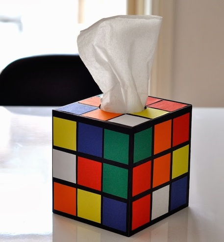 geek crafts, upcycled crafts, rubix cube box