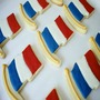 French Flag Cookies, Fondant Cookies