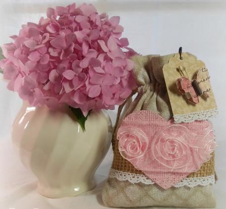 burlap picnic pouch, burlap gift bags