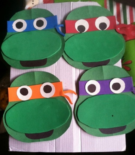 Ninja Turtles Foam Faces