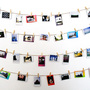 photo clothespin line wall art