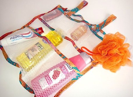 mesh shower organizer sewing pattern