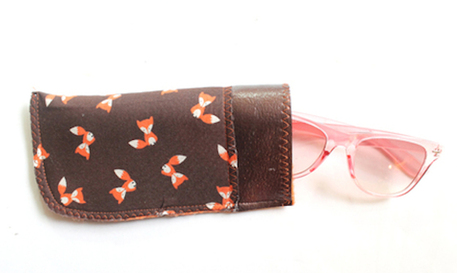DIY leather sunglass case