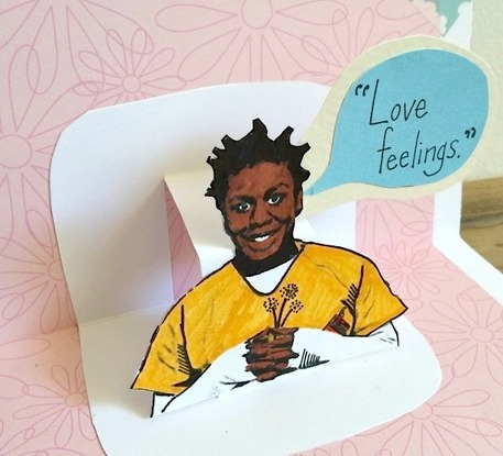 crazy eyes OITNB pop-up card