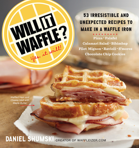 Making a BLT in your waffle iron