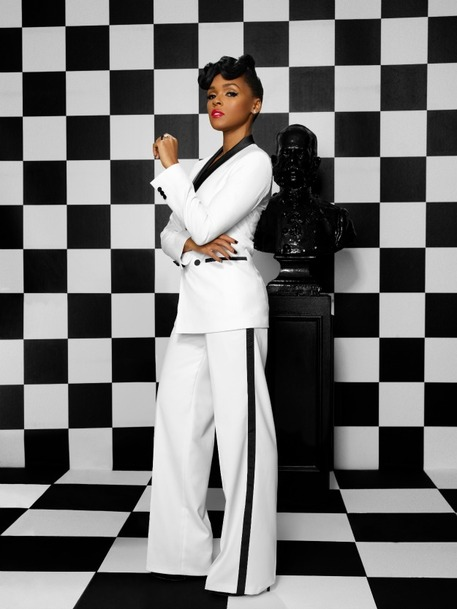 Celebrity Style, Janelle Monae, Glam Menswear, Refashioned Menswear, Womens Suits, DIY Jewelry