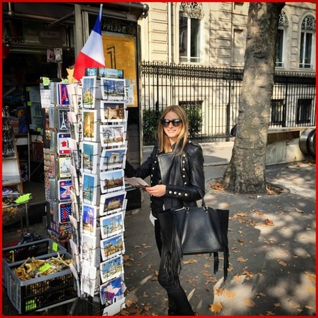 Celebrity Style, Olivia Palmero, Paris Style, leather purse, leather fringe diy, fringe crafts, fringe accessories
