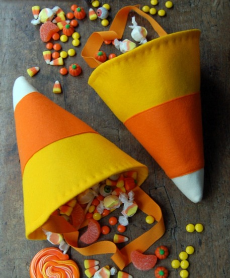 Candy corn trick-or-treat bags