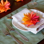 paper flower place setting