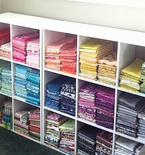 Organizing Fabric for Improvisational Quilting